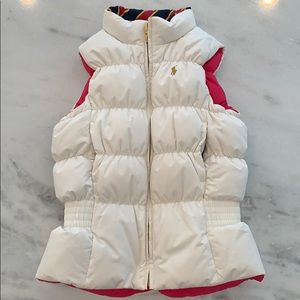 Like New Girls Ralph Lauren White Down Vest 8/10